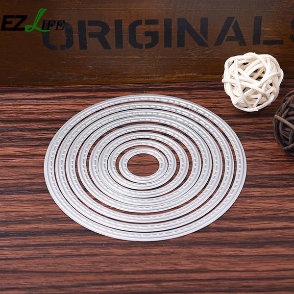 stencil airbrush 7pcs/set Round Shape Diy Scrapbooking Cutter Metal Scrapbooking Cutter Dies Stencil For Paper Metal Cutting Dies LQW0080