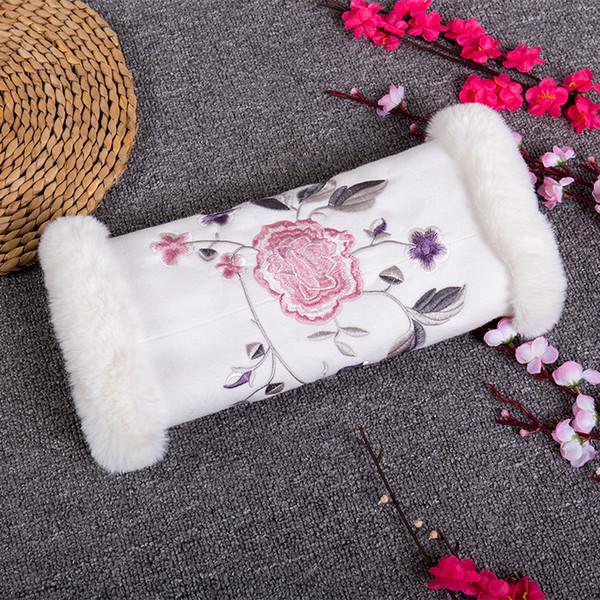 2019 Nuevo diseñador de invierno blanco de piel sintética guantes de la boda caliente nupcial muff accesorios almacenados para su fiesta de boda