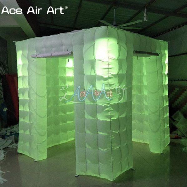 Mais novo estilo Crescer foto cabine inflável, cubo tenda, casa grapher foto para a festa de casamento e eventos
