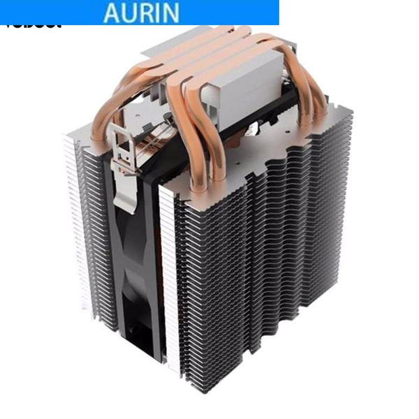 CPU Cooler Fan 4 Heatpipe Water Cooling Radiator Blue LED Hydraulic Bearing Quiet 3pin CPU Cooler Fan Heatsink for Intel LGA1156/1155/1150