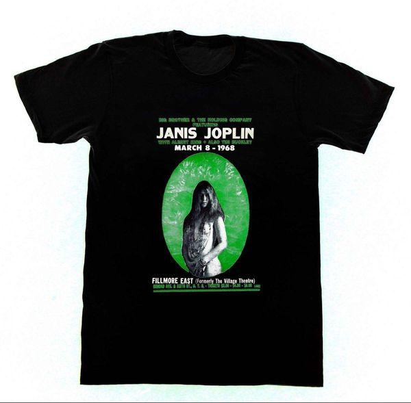 Janice Joplin Maglietta Vintage Concert Poster Jerry Garcia Grateful Dead Stampa T-Shirt Summer Casual Top Tee Fashion