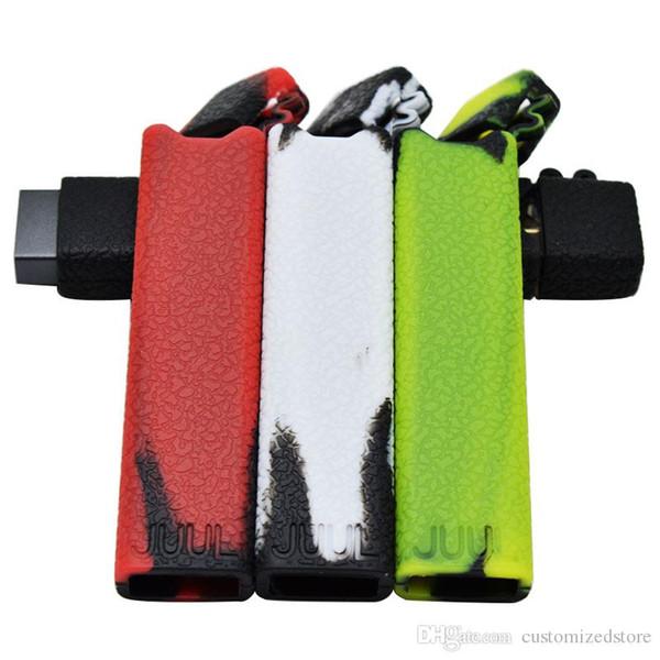 JUUL Etui en silicone Anti-Slip Mult Couleurs Housse de protection en silicone pour Juul Pods Accessoires pour fumeurs personnalisés Peaux pour JUUL Vape Pen Kit