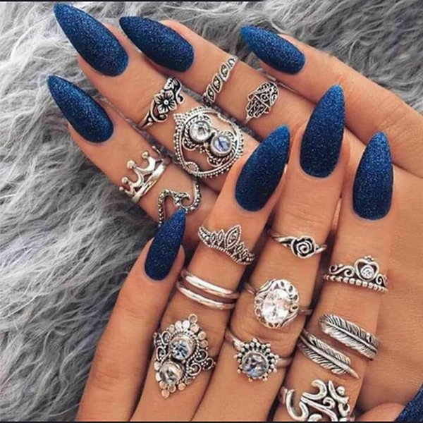 best selling Knuckle Ring Sets Crown Heart Opal Diamond Rings Stacking Rings Midi Rings Women Ring Jewelry Will and Sandy 080434