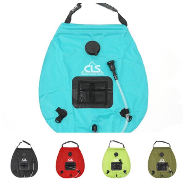 hot Solar energy bath bag outdoor self-drive camping water bag portable outdoor sun bath water storage bag Watering Equipments T2I5193