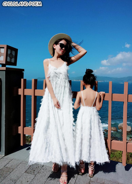 Anne Kızı Elbiseler Plaj Şifon Anne Ve Ben Elbise Giysi Aile Bak Anne Ve Kızı Elbise Aile Eşleştirme Giyim