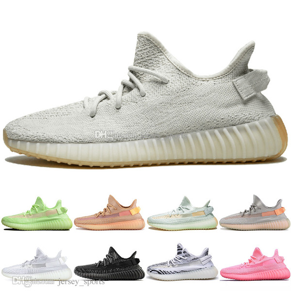 With Box Clay V2 White Black Static Reflective GID Glow In The Dark Mens Running Shoes Hyperspace True Form Womens Sports Designer Sneakers