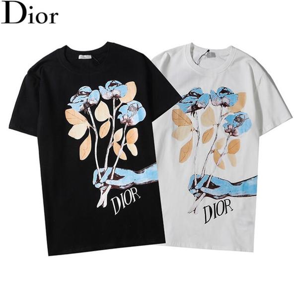 Бесплатная рассылка в 2019 D1OR футболку, хип-хоп моды пещерный Street платье 1V короткий рукав длинный рукав футболки, сэндвич 100% хлопок