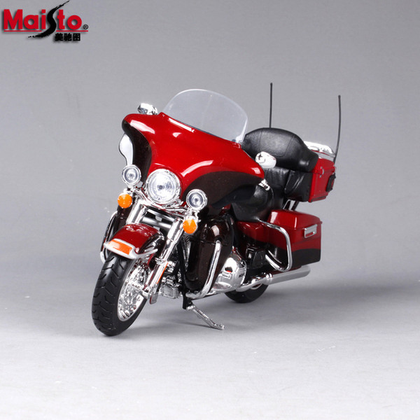 Alloy Harley Motorcycle Model Toy, Road King Classic, 1:12 Scale, High Simulation, for Kid' Party Birthday Gift, Collecting, Home Decoration