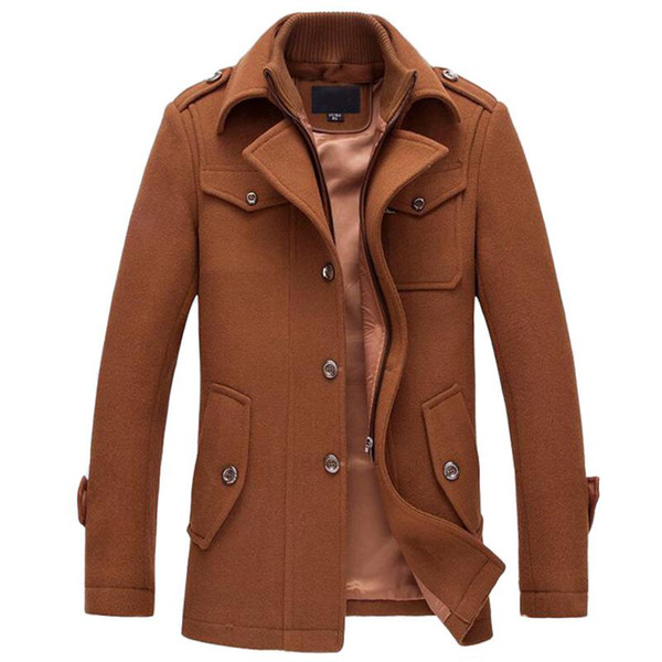 Winter-warmer Men Casual Jacken Wollmantel Slim Fit-Jacken Herren-Freizeitjacke Overcoat Pea Coat Plus Size M-XXXL Mantel