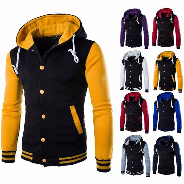 2019 nueva sudadera con capucha de invierno para hombre caliente Outwear suéter abrigo cálido chaqueta de béisbol sudadera con capucha tamaño: M-5XL