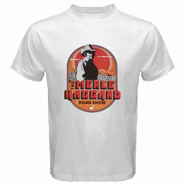 New Merle Haggard Country Music Tour Logo Мужская белая футболка Прохладный xxxtentacion Маркус и Мартинус скидка бесплатная доставка футболка