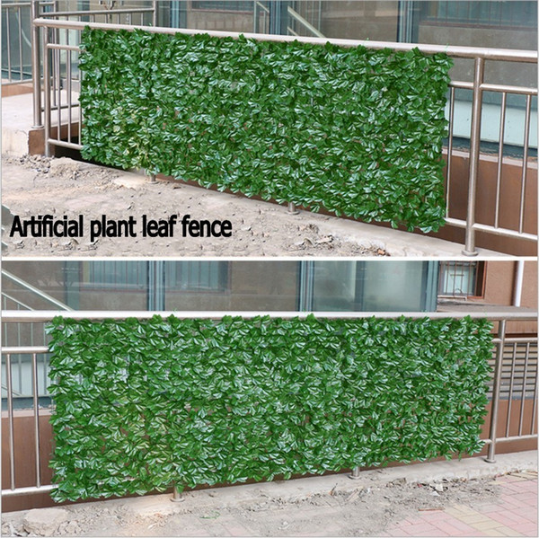 3 Metros de Hedge de Madeira Artificial Hedge Privacidade Ivy Cerca Jardim Ao Ar Livre Loja De Plástico Decorativo Painéis de Plantas