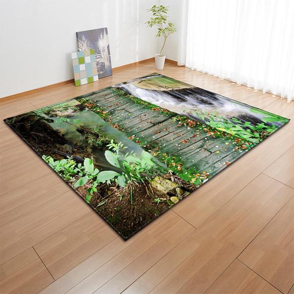 Acheter Impression Creative 3d Flower Garden Tapis Hall D Entree