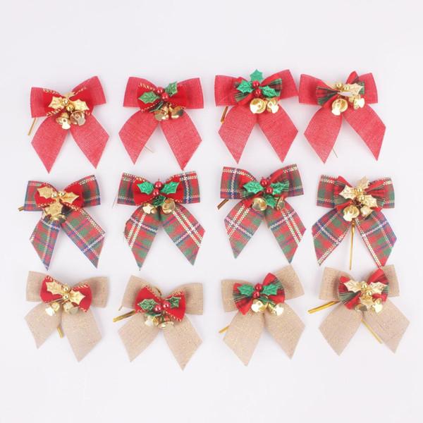 Manualidades Navidad Guirnaldas.Compre 8x8 Cm Arco De Navidad Campana Colgante Mini Arcos Guirnalda Decoracion Del Banquete De Boda Diy Manualidades Suministros Para El Hogar Regalo