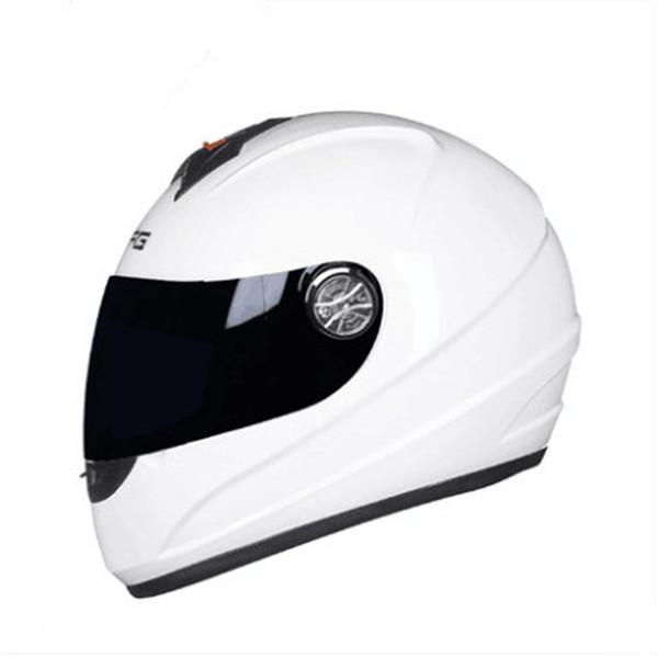Motorcycle Full Face Helmet Street Moto Touring Motorbike Racing Modular full face Helmet with Visor Sun Shield white