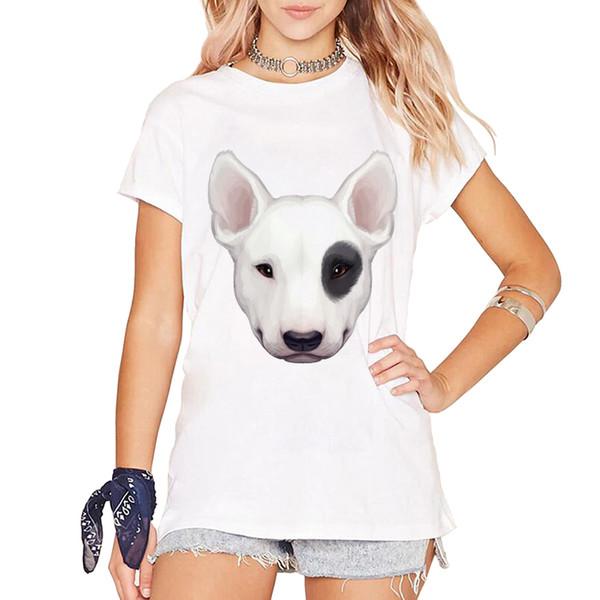 Brand Women Summer T Shirt Cute English Bull Terrier Graduate Woman Tops T-shirt For Girls Tees Shirt Femme Vetement