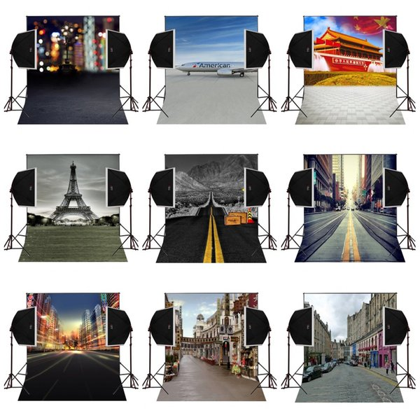 custom 5X7FT city road natural scenic vinyl photography backdrop photo background digital music studio prop comunion decoracion for party