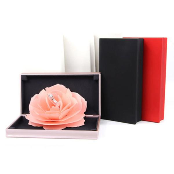 Кейс для хранения ювелирных изделий 3D Pop Up Rose Ring Box Свадьба Обручальное Кейс для хранения ювелирных изделий Bump Валентина коробка