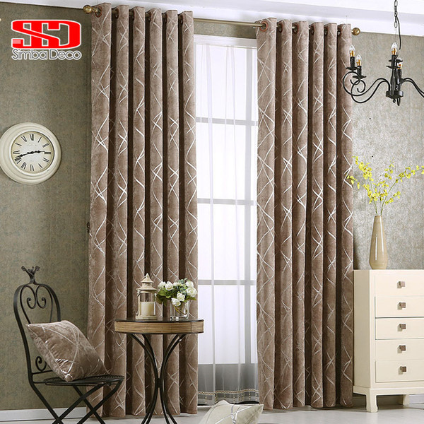 top popular Chenille jacquard Silver Blackout Curtains For Bedroom Modern Blind Fabric Grey Drapes for Living Room Window Custom size 2021