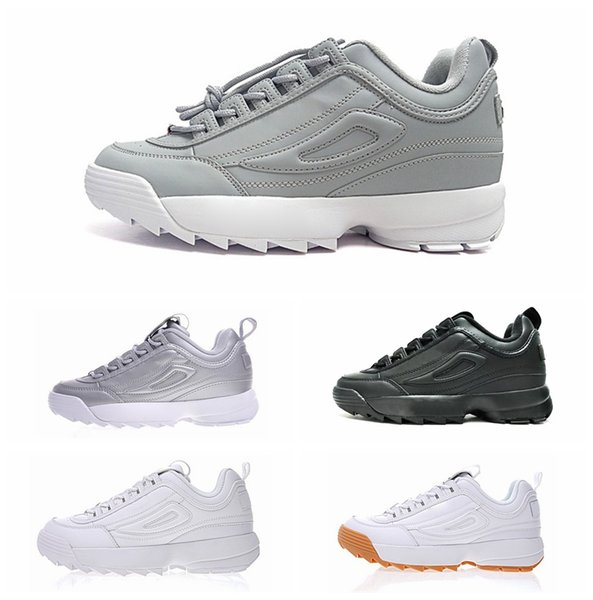 Disruptors II Triple black white pink Mens running shoes for womens grey designer shoes Hiking Jogging trianers sports sneakers size 36-44