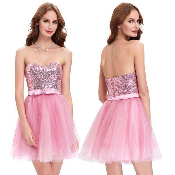 Yüksek kaliteli yeni Payet elbise nedime grup elbise kısa Düğün Gelinlik Giydirme