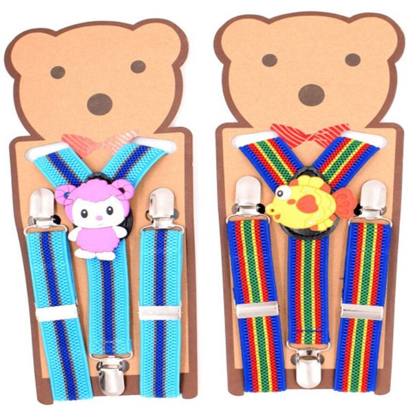 Children Cartoon Suspenders Kid strap Elastic Y-back mix colors for baby Clip-on students party Christmas gift Free ship