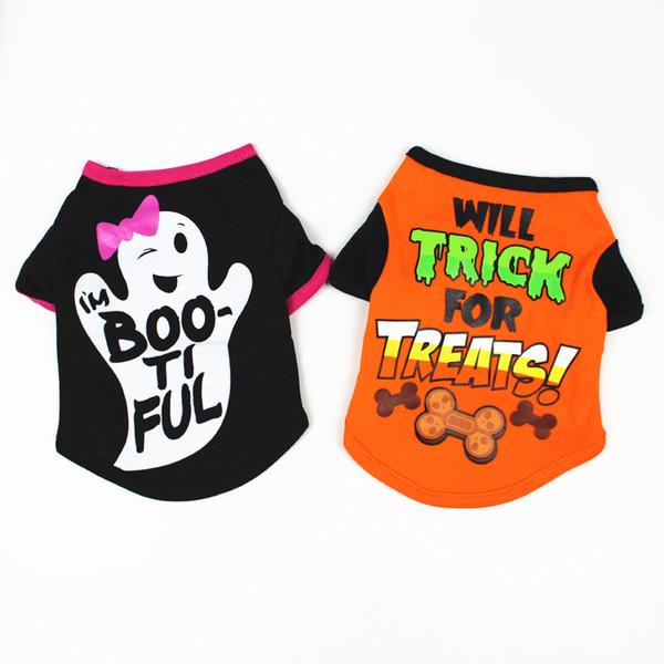 Sevimli Harfler Köpek Giyim Yelek Pet T-shirt Yumuşak Köpekler Giyim Için Küçük Yavru Teddy Jersey Yavru Giyim Pug Kostümleri Için Bulldog