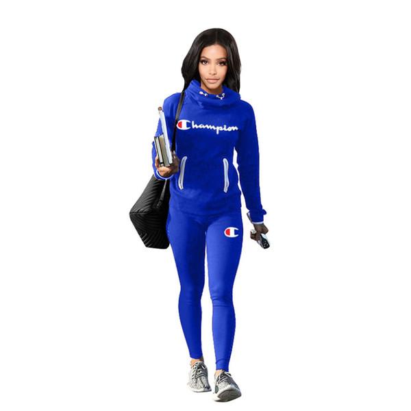 Kadın Spor Eşofman Hoodies Üst + Pantolon 2 Parça Kadın Set Kıyafet Bayan Bayanlar Eşofman Eşofman Giysi artı boyutu