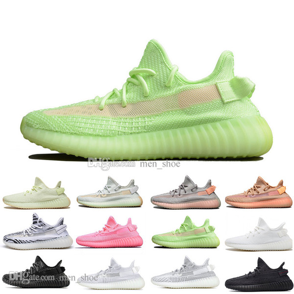 Newest Kanye West Clay V2 Static Reflective Rainbow discoloration Mens Running Shoes Hyperspace True Form Women men Sports Designer Sneakers