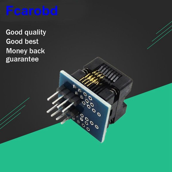 Fcarobd 1pc Socket de prueba SOP8 SOIC8 SO8 a DIP8 Adaptador de programación Socket IC Adpater 150mil 1.27 mm Paso