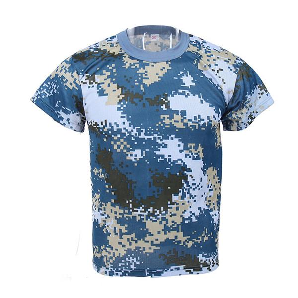 Marine camouflage desert training jungle camouflage suit field training men short-sleeved T-shirt S-4XL