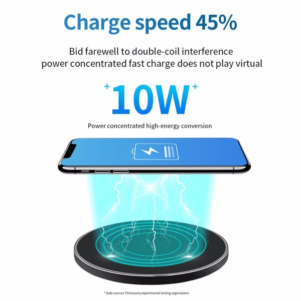 10W Fast Wireless Charger For Samsung Galaxy S9 / S9 + S8 S7 Note 9 S7 USB Board qi Charging Pad for iPhone XS Max XR X 8 Plus