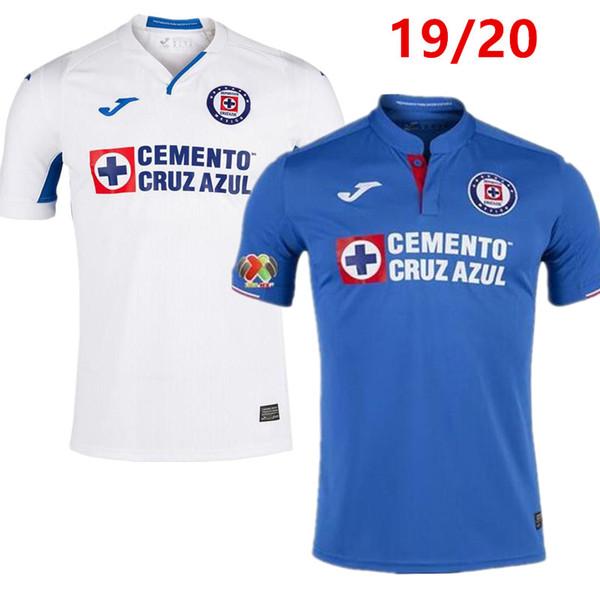 Thailand Quality 2019 2020 Mexico Club Cruz Azul Liga MX Soccer Jerseys 19/20 Home Blue Away White Football Shirts camisetas de futbol