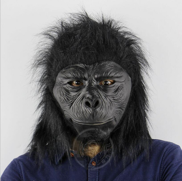 Latex Scimpanzé Testa maschera da gorilla animale Maschera forniture di Halloween partito del vestito operato costume cosplay Halloween
