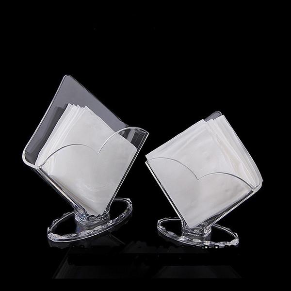 Facial Tissue Box Holder Clear Acrylic Storage Organizer for Kitchen Restaurant