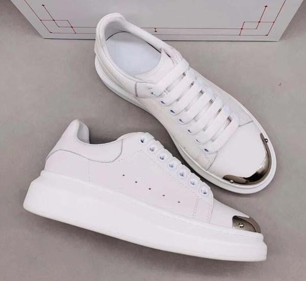 Bata Sapatos de Grife instrutores Refletivo 3 M Plataforma De Couro branco Sapatilhas Das Mulheres Mens Plana Casual Sapatos de Festa de Casamento Camurça Esportes qq10