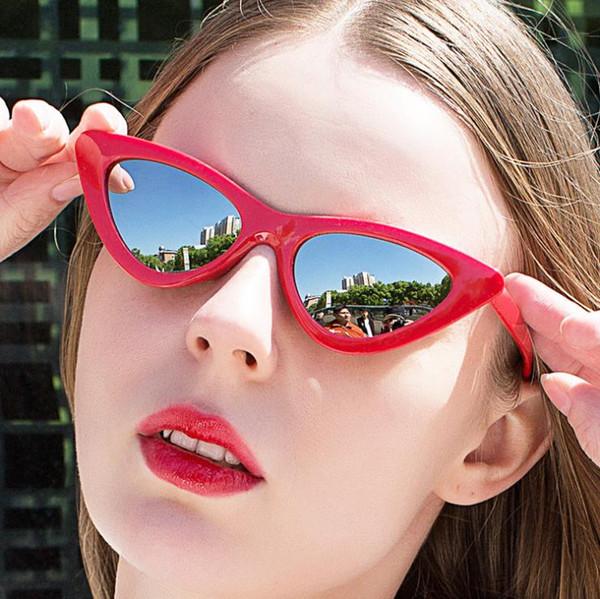 2019 European and American new cat eyes Avant-garde fashion trend sunglasses Sexy wild women's sunglasses KD103-9788