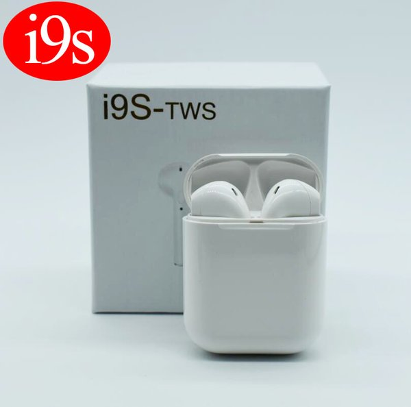 Top selling I9S Tws 5.0 Earphone Headphone Stereo TWS Earbuds for IOS Android Phone With Charging Box Wireless Bluetooth Headphone