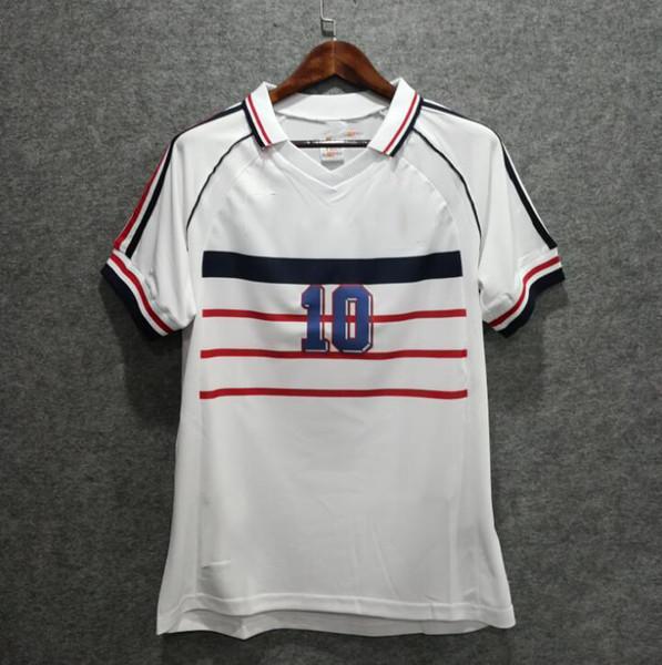 Free shipping 1998 VINTAGE FRANCE RETRO soccer jersey VINTAGE ZIDANE HENRY MAILLOT DE FOOT Thailand Quality soccer jerseys uniforms Football