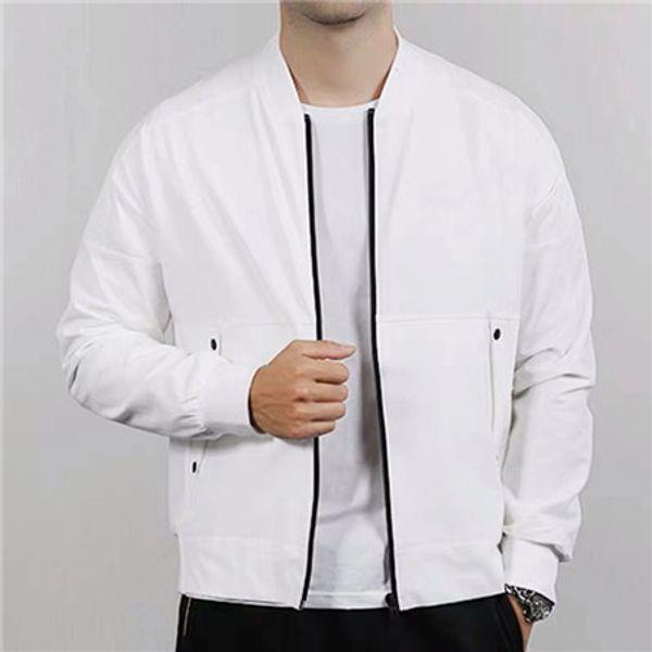 2020 Marca chaquetas para hombre de la Mujer rompevientos Deportes Sweatershirt Diseñador Outwear las capas puro Negro Blanco cremallera de la manera informal de reproducción B100020L