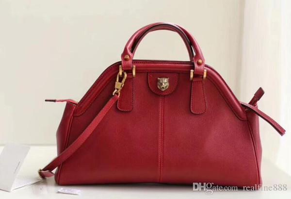 5A 516459 39cm Re(Belle) Medium Top Handle Totes bag,Metal Feline Head,Microfiber Lining,Come with Dust Bag