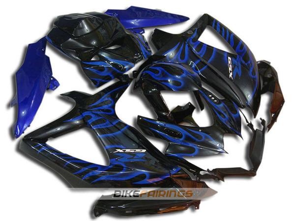Nuevo kit de carenado ABS de la motocicleta ajustado para SUZUKI GSXR600 GSXR750 08 09 10 600 750 K8 GSXR 600 750 2008 2009 2010 kits de carenado azul llama