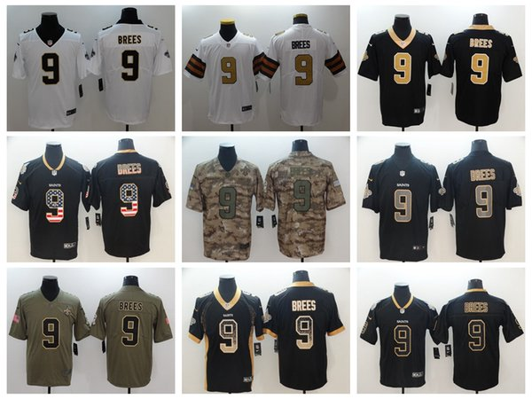 9abe70be2 2019 New Mens 9 Drew Brees Jersey Orleans Saints Football Jersey 100%  Stitched Embroidery Drew
