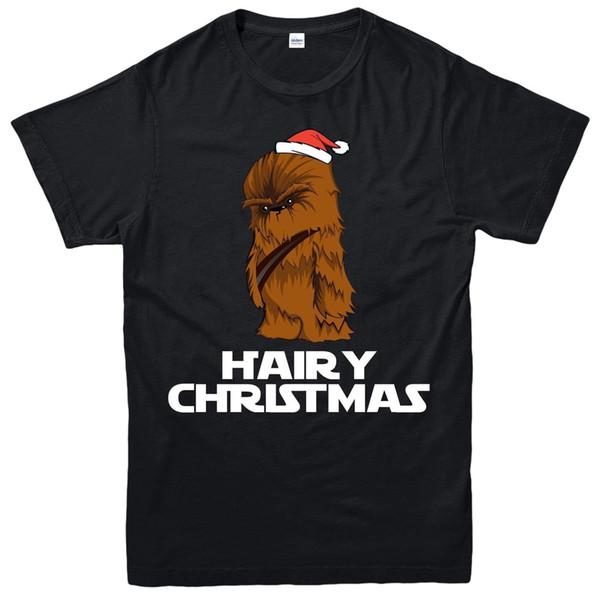 Top tee Рождественская футболка - Chewbacca Xmas праздничный подарок взрослые-дети Tee K556