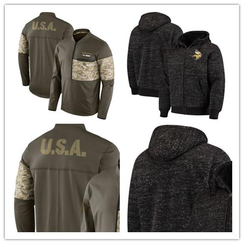 sneakers for cheap 42464 91fbd 2019 Minnesota Men'S Vikings Jersey Salute To Service Sideline Hybrid Half  Zip Pullover Jacket Football Hoodie From Double_angel, $35.54   DHgate.Com