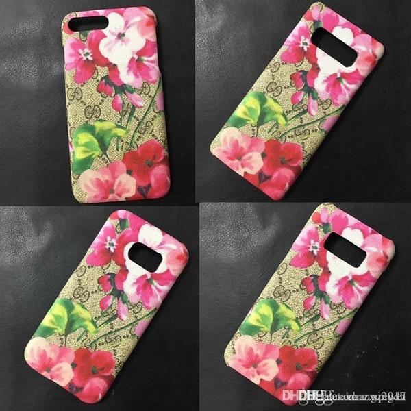 brand design Print Flower Letter G Phone Case Cover for iphone Xs max 7 7plus 8 8plus 6plus case Samsung Note8 S8 plus S9 S9plus back cover