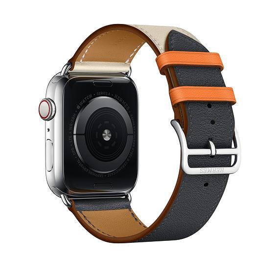 para Apple Watch 40mm 44mm Band Bandkin Correa de pulsera de cuero genuino de un solo recorrido