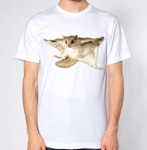 Maglietta di modo unisex delle donne degli uomini della maglietta dello scoiattolo di volo Trasporto libero