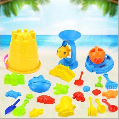 Enfants Plage de sable bébé outil Jouet Dragage Plage Seau Château moule animal Nouveau mode d'été Bébé jouant 25pcs jouets de l'eau de sable / set TL1144