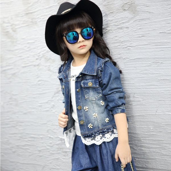 New Style Denim Jacket for Girls Children Clothing Spring Autumn Girls Jackets Jeans Coat Children Fashion Outwear Wea Children Clothing Spring Autumn Girls Jackets